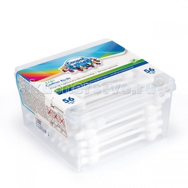 Уход за малышом Canpol Гигиенические палочки в коробке 56 шт. 3/111 манеки палочки ватные гигиенические с зеленым стиком 220951 150 шт