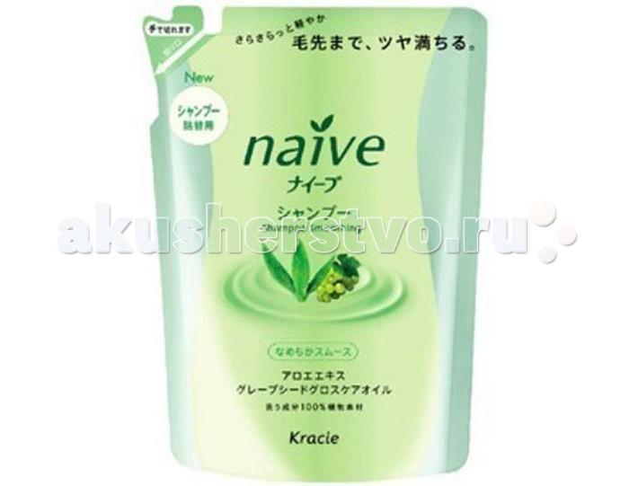Косметика для мамы Kracie Naive Шампунь для волос с экстрактом Алоэ запасной блок 400 мл