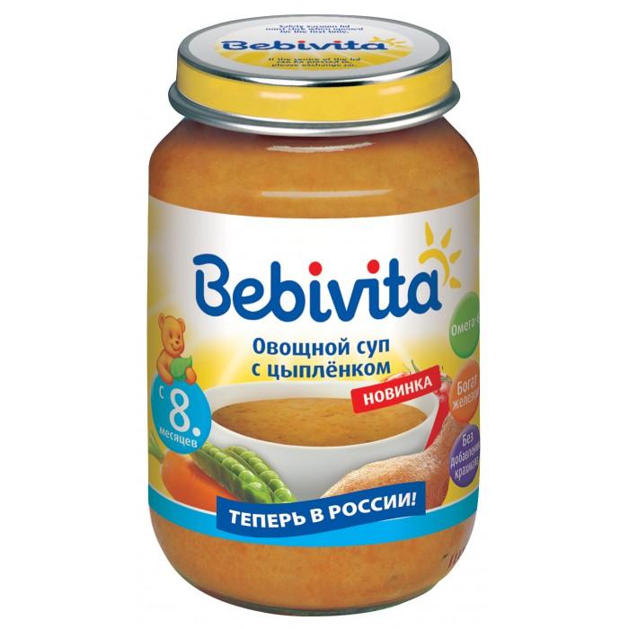 Супы Bebivita Овощной суп с цыпленком с 8 мес. 190 г кукурузное масло с ценой