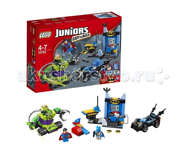 Lego Lego Juniors 10724 Лего Джуниорс Бэтмен и Супермен против Лекса Лютора lego lego juniors бэтмен против мистера фриза