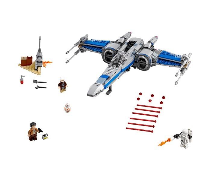 Конструктор Lego Star Wars 75149 Лего Звездные Войны Истребитель Сопротивления типа ИксStar Wars 75149 Лего Звездные Войны Истребитель Сопротивления типа ИксLego Star Wars 75149 Лего Звездные Войны Истребитель Сопротивления типа Икс 740 деталей  По Дамерон, лучший пилот Сопротивления современности, которого называют вторым Ханом Соло прибывает на Джакку к таинственному путешественнику Лор Сан Текка, где тот прячется от сил Первого Ордена. Лор Сан Текка — верный слуга ордена джедаев и один из немногих, кому известно место, где скрывается Люк Скайуокер. Он успевает передать фрагмент карты По, после чего на его деревню начинается атака штурмовиков Первого Ордена, которые карают его жителей огнем и мечом.  После сборки Вы получите потрясающе выполненный истребитель Икс-винг в серо-синей окраске с подвижными крыльями и шутерами. Строение деревни, которое вспыхнуло после атаки штурмовиков Первого Ордена, разрушается и По бросается с огнетушителем, чтобы погасить его.  Успеет ли он доставить важнейшую информацию в штаб Сопротивления решать только Вам!  4 минифигурки: Лор Сан Текка, По Дамерон, астродроид BB-8 и штурмовик Первого Ордена с огнеметом Истребитель типа X c 4 шутерами, тайником и откидывающимся блистером кабины пилота. Разрушаемые элементы ландшафта.  Количество деталей: 740 Возраст: 8-14 лет<br>