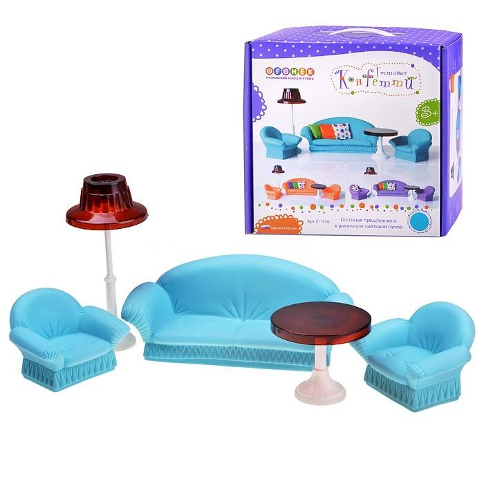 Кукольные домики и мебель Огонек Гостиная для кукол Конфетти