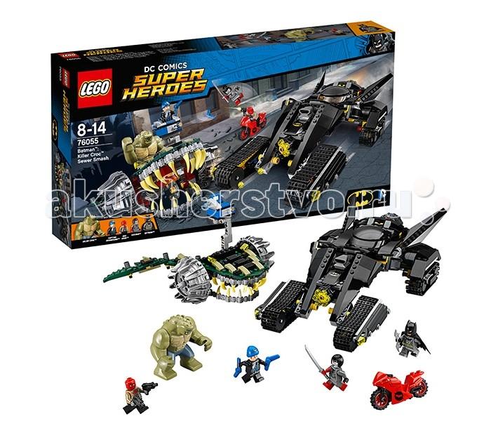 Lego Lego Super Heroes 76055 Лего Супер Герои Бэтмен: Убийца Крок lego игрушка супер героибэтмен™ убийца крок™ 76055 с 8 лет