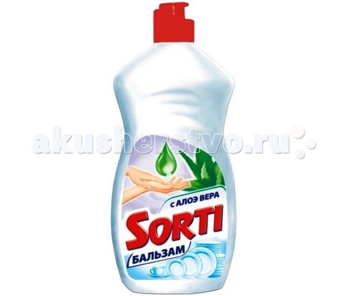 Бытовая химия Sorti Гель для мытья посуды Бальзам с Алоэ вера 500 г бальзам для мытья посуды clean tone алоэ вера с глицерином 675 мл