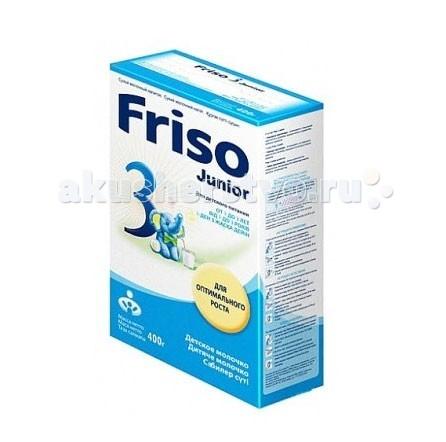 Молочные смеси Friso Юниор 3 для оптимального роста 400 гр от 1 до 3 лет смесь pediasure abbott малоежка со вкусом шоколада от 1 года до 10 лет 200 мл