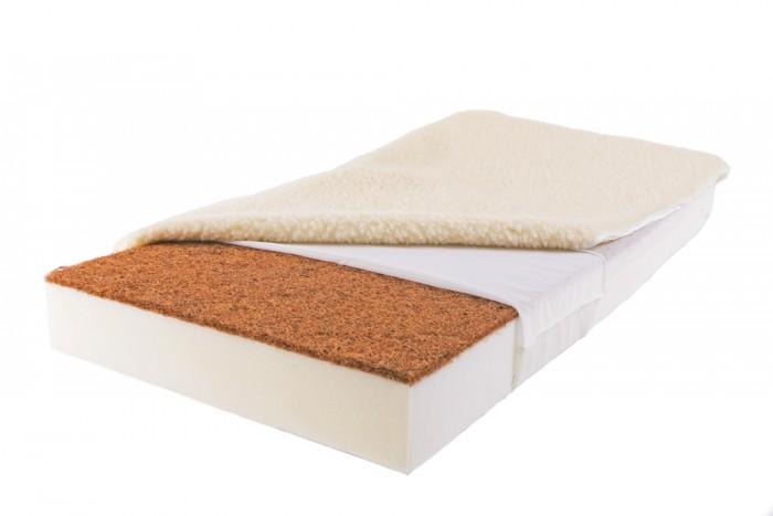 Матрас Babysleep класса Люкс BioForm Bamboo 120x60класса Люкс BioForm Bamboo 120x60Уникальный детский матрас двусторонней жесткости класса Люкс BioForm Bamboo 120x60. Экологически чистый, так как при производстве не используются клеевые материалы.  Особенности: - Жесткая сторона состоит из 100% натурального материала – кокосового волокна (кокосовая плита от Enkev, Голландия) с латексной пропиткой - это увеличивает долговечность и придает детскому матрасу пружинящие свойства; отличается гигиеничностью, антиаллергенностью и естественной вентиляцией. - Сторона средней жесткости – это блок Naturalform (производство GommaGomma, Италия) – обладает особой пористой внутренней структурой, благодаря чему прекрасно пропускает воздух.  Чехлы: внутренний и внешний:  Внутренний чехол (100% натуральный хлопок) надежно фиксирует компоненты детского матраса BabySleep «BioForm Bamboo», увеличивает срок его службы и позволяет комфортно использовать внешний чехол, без риска деформации матраса;  Внешний чехол с 3-сторонней молнией и удобными сторонами зима – лето: ЛЕТО - высококачественный материал Bamboo итальянской фабрики Stellini,- это тонкое волокно с очень высокой прочностью, мягкое и приятное на ощупь.  Структура бамбукового волокна состоит из множества крошечных ячеек, а это обеспечивает прекрасную вентиляцию и высокую гигроскопичность; Bamboo Kun – уникальный био-агент. Он отличается антибактериальными свойствами, способностью впитывать неприятные запахи.  Все свои прекрасные свойства бамбуковое волокно сохраняет даже после многочисленных стирок детского матраса. ЗИМА - 100% натуральная тонкорунная шерсть овцы-мериноса (производство: Cafissi, Италия) с противомикробной и противоклещевой пропиткой (снижает риск возникновения аллергии);  Шерсть мериноса (за счет высокого содержания ланолина – животного воска) является природным антисептиком, укрепляет иммунную систему, способствует лучшей релаксации, снимает стресс.  Малышу обеспечивается сухой и расслабляющий микроклимат в детск