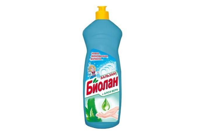 Бытовая химия Biolane Средство для мытья посуды Бальзам Алоэ Вера 1000 мл бальзам для мытья посуды clean tone алоэ вера с глицерином 675 мл