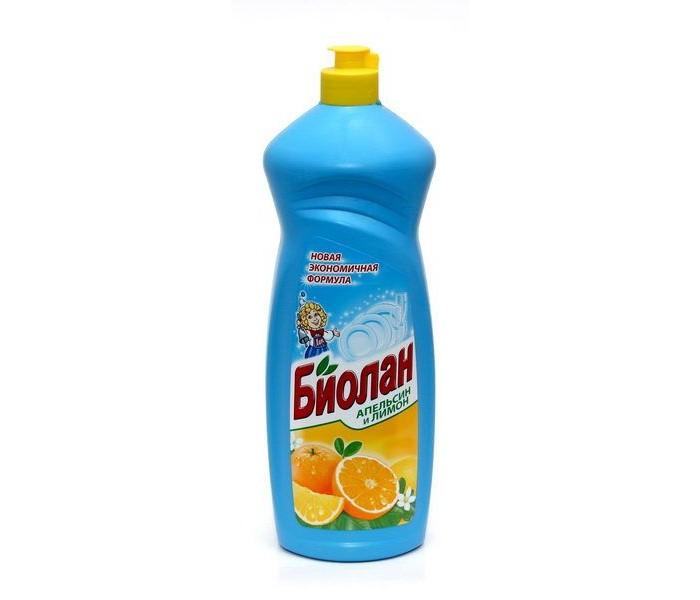 Бытовая химия Biolane Средство для мытья посуды Апельсин и лимон 1 л средство для мытья посуды трио фитонциды антибактериальное с ароматом таежной хвои 1 2 л