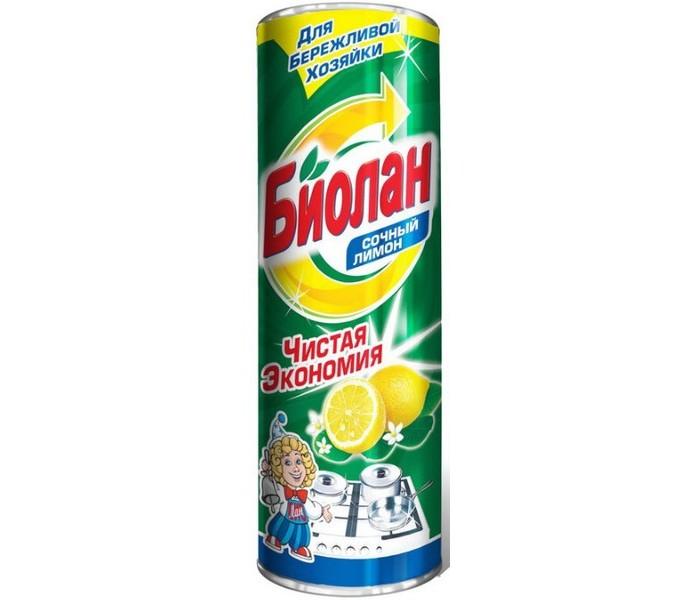 Бытовая химия Biolane Чистящий порошок Сочный лимон 400 г порошок чистящий sarma лимон отбеливание с антибактериальным эффектом 400 г