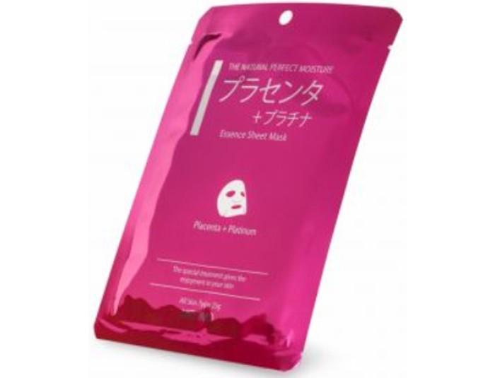 Косметика для мамы Mitomo Маска для лица Плацента + Платина, омолаживающая 25 г омолаживающая маска 25 г 6шт may coop омолаживающая маска 25 г 6шт