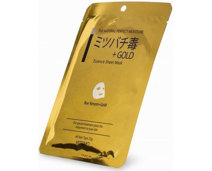 Косметика для мамы Mitomo Маска для лица Пчелиный яд + Золото, восстанавливающая для чувствительной кожи 25 г