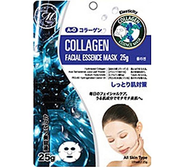 Косметика для мамы Mitomo Маска для лица Natural 512 с Коллагеном, повышающая эластичность и упругость 25 г no hj маска для лица с сосновым грибом 25 г