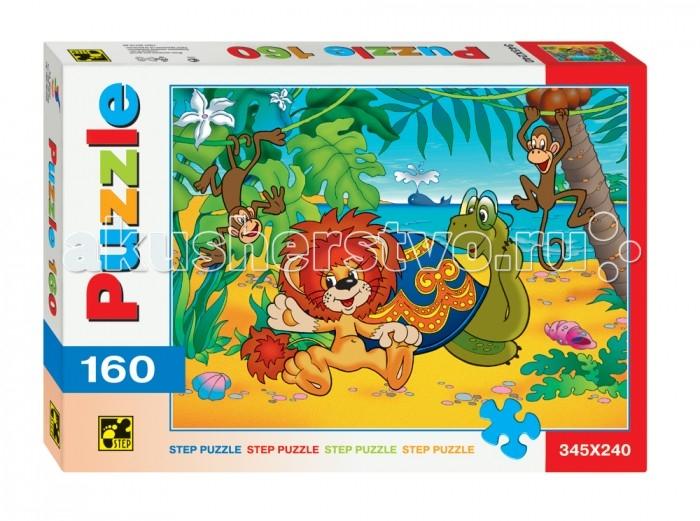 Пазлы Step Puzzle Пазлы Львенок и Черепаха 160 элементов пазлы crystal puzzle головоломка лондонский автобус