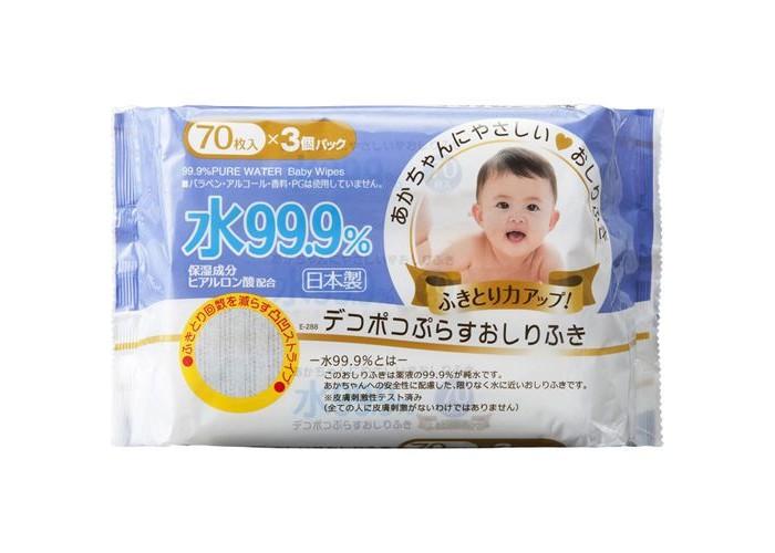 Салфетки iPlus Детские влажные салфетки 99,9% воды с гиалуроновой кислотой рифленые мягкая упаковка 70 шт.