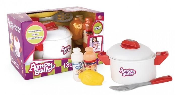 Ролевые игры Amore Bello Набор детской посуды с кастрюлей