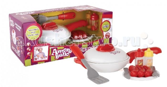 Ролевые игры Amore Bello Набор детской посуды со сковородкой