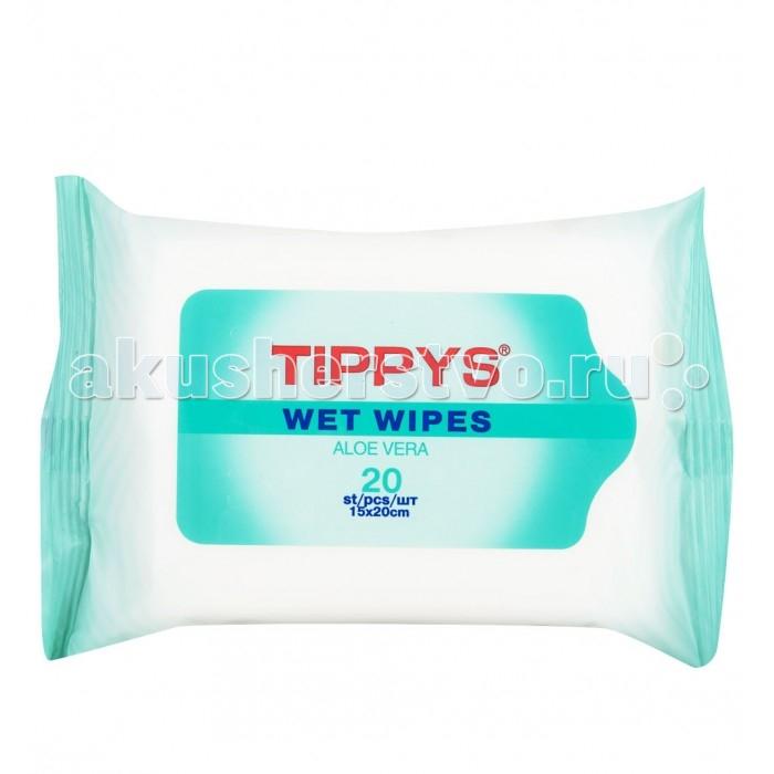 Салфетки Tippys Влажные салфетки 20 шт. влажные салфетки peppa pig влажные салфетки mix