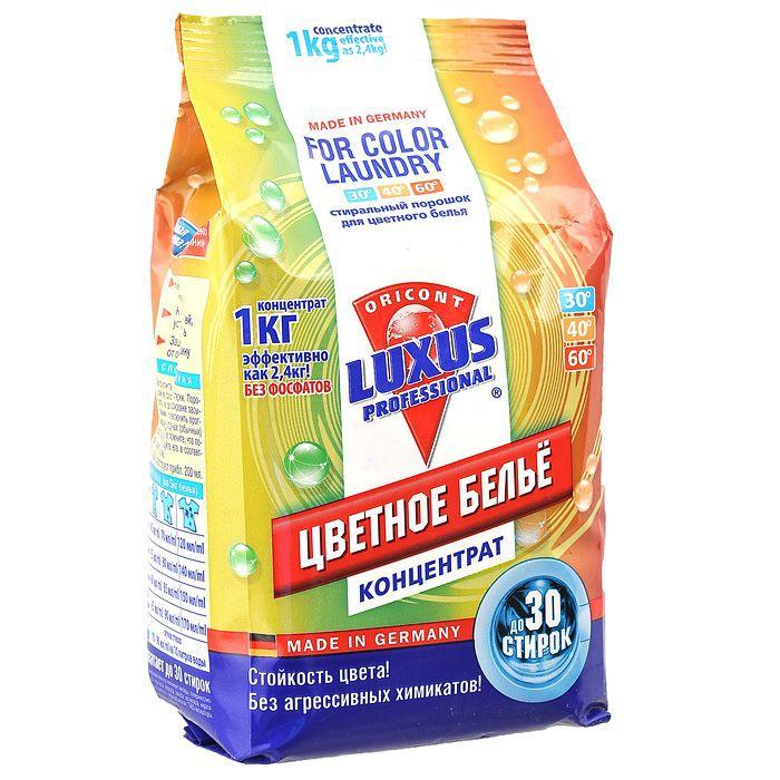 Бытовая химия Luxus Универсальный стиральный порошок для цветного белья Концентрат Professional 1 кг бытовая химия luxus усилитель стирального порошка для цветного белья professional супер сила 500 г