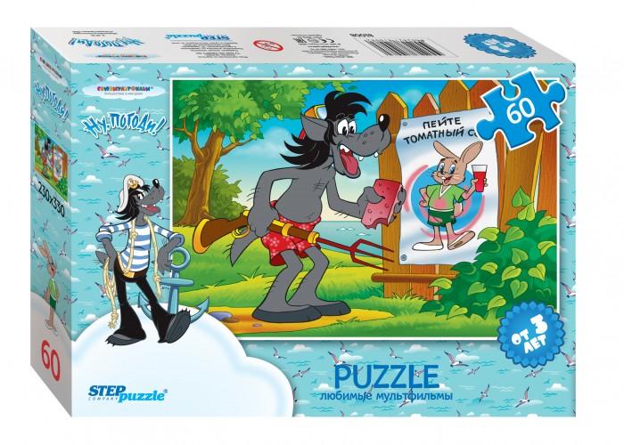 Пазлы Step Puzzle Пазл Ну, Погоди! Пляж 60 элементов развивающая игрушка 1toy ну погоди 1toy ну погоди музыкальные инструменты в барабане
