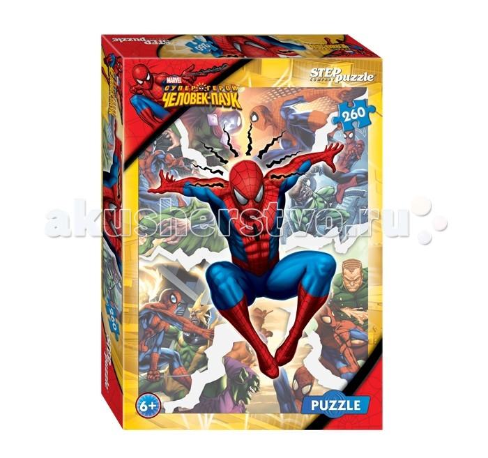 Пазлы Step Puzzle Пазл Человек-паук 260 элементов пазл пагода step puzzle 1000 деталей