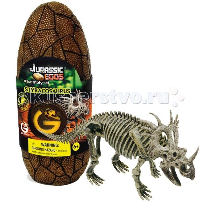Конструкторы Geoworld Сборная модель динозавра в яйце Jurassic eggs - Стиракозавр 14 деталей конструкторы eastcolight сборная модель science time скелет трицератопса 14 элементов