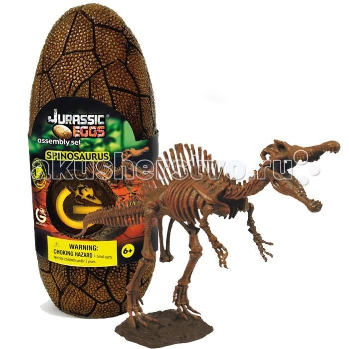 Конструкторы Geoworld Сборная модель динозавра в яйце Jurassic eggs - Спинозавр 14 деталей конструкторы eastcolight сборная модель science time скелет трицератопса 14 элементов