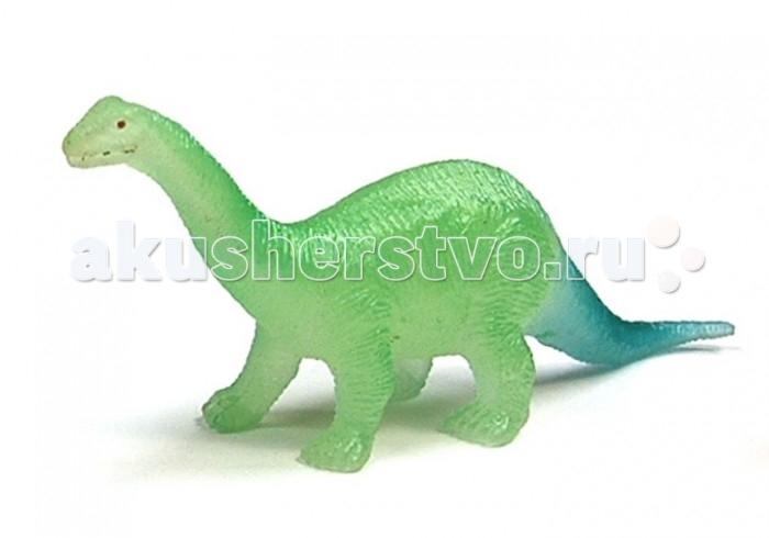 Игровые наборы Geoworld Мини-набор палеонтолога Апатозавр 6.5 см (светится в темноте) игровые наборы esschert design набор игровой kg118