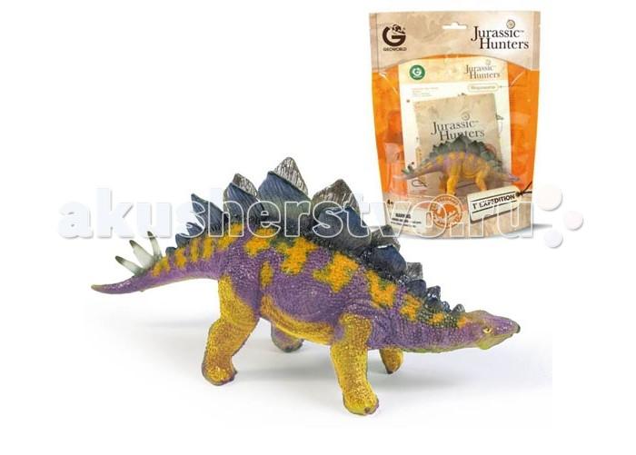 Игровые фигурки Geoworld Фигурка динозавра Jurassic Hunters - Стегозавр конструкторы geoworld сборная модель динозавра в яйце jurassic eggs стигимолох n14 деталей