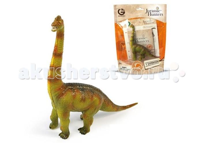 Игровые фигурки Geoworld Фигурка динозавра Jurassic Hunters - Брахиозавр конструкторы geoworld яйца динозавра юрский период спинозавр