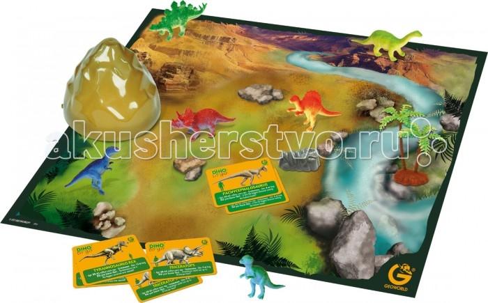Настольные игры Geoworld Настольная игра Путешествуй и Играй - Эра динозавров рисуем 50 динозавров и других доисторических