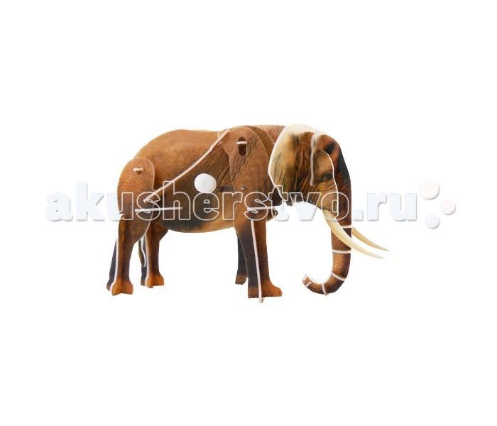 Конструкторы UF Заводной 3D-пазл Слон 3d головоломка слон 90135