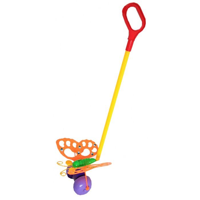 Каталки-игрушки Совтехстром Бабочка с ручкой каталки альтернатива башпласт слонёнок