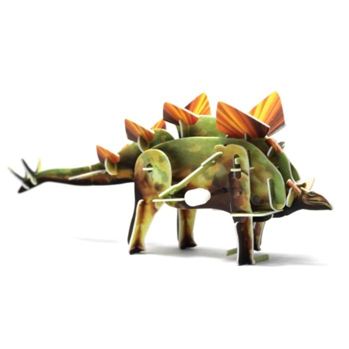 Конструкторы UF Заводной 3D-пазл Стегозавр конструкторы uf заводной 3d пазл диплодок
