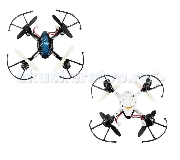 UF Мини-квадрокоптер р/у Хищник на аккумуляторе (3D-полет, трюки, свет)Мини-квадрокоптер р/у Хищник на аккумуляторе (3D-полет, трюки, свет)Компактный трюковой квадрокоптер Хищник - высокотехнологичная игрушка, которая имеет необычный дизайн и впечатляющие функции. Квадрокоптер способен выполнять различные маневры, так как ему доступны все направления движения в воздухе, 3D-полет. Он может впечатляюще кувыркаться, исполняя «мертвую петлю». Во время полета горят огоньки. Новейший 6-канальный гироскоп делает полет максимально стабильным и легко управляемым. Квадрокоптер заряжается всего за полчаса, от совместимого с USB зарядного устройства. Его корпус создан из особо прочного противоударного пластика. Специальные барьеры в конструкции защищают вращающиеся винты, чтобы они не могли нанести вред окружающим.  Внимание! Цвет игрушки в ассортименте, цена указана за 1 шт. Доступные цвета — белый / синий. Желаемый цвет указывайте в комментарии к заказу.  Комплект:   Квадрокоптер;  Пульт управления; 4 винта; USB-зарядное устройство Инструкция.  Особенности:  Размер игрушки: 13.5 х 13.5 х 4 см. Аккумулятор: 3.7V 300mAh Li. Время игры: 6-10 мин. Время зарядки: 30 мин. Дальность действия: 15-30 м. Частота: 2.4GHz. Особенности: 4-канальный, с 6-канальным гироскопом.<br>