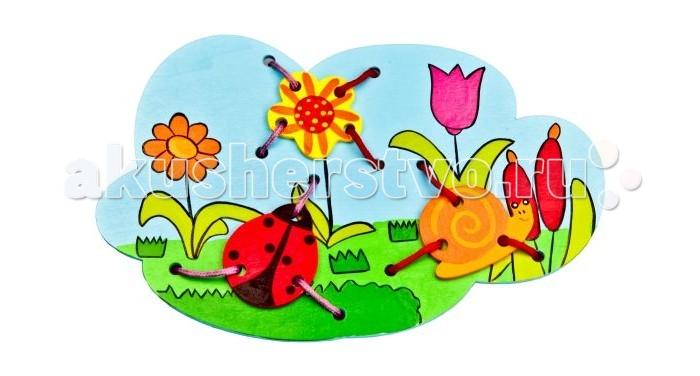 Деревянные игрушки Mapacha Шнуровка Божья коровка бк 04 магнит божья коровка 35мм 780420