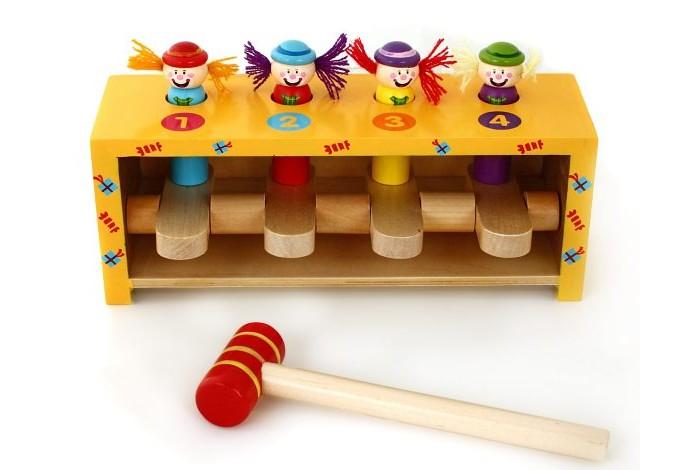 Деревянные игрушки Mapacha Набор с молоточком Прыгающие клоуны