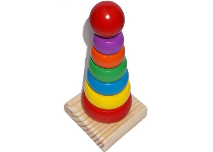 Деревянные игрушки Mapacha Пирамида Шар