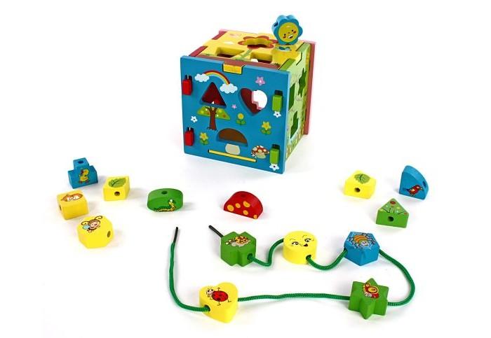 Купить Деревянные игрушки, Деревянная игрушка Mapacha Кубик Радужный 3 в 1