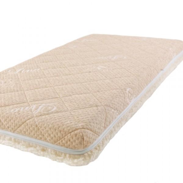 Матрас Babysleep класса Люкс BioLatex Linen 125x65класса Люкс BioLatex Linen 125x65Экологически чистый матрас для новорожденных двусторонней жесткости. Не имеет аналогов на российском рынке, отличается полным отсутствием в производстве клеевых материалов.  Жесткая сторона - 100% натуральный материал, кокосовая плита производства концерна ENKEV (Голландия), с полной латексной пропиткой, прочно скрепляющей кокосовые волокна, увеличивающей долговечность и придающей пружинящие свойства. Обладает естественной вентиляцией, гигиеничностью и антиаллергенностью.   Обеспечивает матрасу жесткость и долгий срок эксплуатации.  Основа матраса: блок «Naturalform», производства итальянской фабрики «GommaGomma: материал, имеющий специфическую пористую внутреннюю структуру, обладающий отличной воздухопроводимостью и гигиеничностью, отсутствием избыточной влажности и вредных микроорганизмов.   Мягкая сторона - латексная плита производства итальянской фабрики «Ecolatex». Эластичная, мягкая и гипоаллергенная, латексная пена оптимально адаптируется к форме тела и головы человека, производится из млечного сока бразильской гевеи.   Это идеальный материал для здорового и естественного сна, благодаря присутствию в структуре воздушных микро-сот, сообщающихся между собой и обеспечивающих отличную внутреннюю вентиляцию, гигиеничность и поддержание стабильного температурного фона.  Уникальные двойные чехлы являются отличительной особенностью матрасов «BabySleep».   Внутренний чехол из 100 % хлопка, фиксирующий компоненты матраса, увеличивает срок эксплуатации, позволяет безопасно снимать и надевать внешний чехол, без малейшего риска деформации или нарушения состава матраса, был специально разработан для компании «BabySleep».  Внешний чехол имеет трехстороннюю молнию, позволяющую максимально быстро и легко переворачивать чехол на любую сторону жесткости. Отличается повышенной комфортностью, благодаря функции «зима-лето».  Сторона «лето» - «Lino» высококачественная ткань итальянской фабрики «STELL