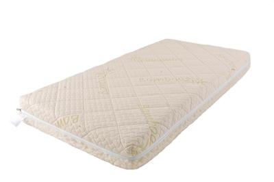 Матрас Babysleep класса Люкс BioForm Bamboo 140x70класса Люкс BioForm Bamboo 140x70Уникальный детский матрас класса Люкс BioForm Bamboo 140x70 двусторонней жесткости класса Люкс BioForm Bamboo 120x60. Экологически чистый, так как при производстве не используются клеевые материалы.  Особенности: - Жесткая сторона состоит из 100% натурального материала – кокосового волокна (кокосовая плита от Enkev, Голландия) с латексной пропиткой - это увеличивает долговечность и придает детскому матрасу пружинящие свойства; отличается гигиеничностью, антиаллергенностью и естественной вентиляцией. - Сторона средней жесткости – это блок Naturalform (производство GommaGomma, Италия) – обладает особой пористой внутренней структурой, благодаря чему прекрасно пропускает воздух.  Чехлы: внутренний и внешний:  Внутренний чехол (100% натуральный хлопок) надежно фиксирует компоненты детского матраса BabySleep «BioForm Bamboo», увеличивает срок его службы и позволяет комфортно использовать внешний чехол, без риска деформации матраса;  Внешний чехол с 3-сторонней молнией и удобными сторонами зима – лето: ЛЕТО - высококачественный материал Bamboo итальянской фабрики Stellini,- это тонкое волокно с очень высокой прочностью, мягкое и приятное на ощупь.  Структура бамбукового волокна состоит из множества крошечных ячеек, а это обеспечивает прекрасную вентиляцию и высокую гигроскопичность; Bamboo Kun – уникальный био-агент. Он отличается антибактериальными свойствами, способностью впитывать неприятные запахи.  Все свои прекрасные свойства бамбуковое волокно сохраняет даже после многочисленных стирок детского матраса. ЗИМА - 100% натуральная тонкорунная шерсть овцы-мериноса (производство: Cafissi, Италия) с противомикробной и противоклещевой пропиткой (снижает риск возникновения аллергии);  Шерсть мериноса (за счет высокого содержания ланолина – животного воска) является природным антисептиком, укрепляет иммунную систему, способствует лучшей релаксации, снимает стресс.  Малышу обеспечивается сухой и