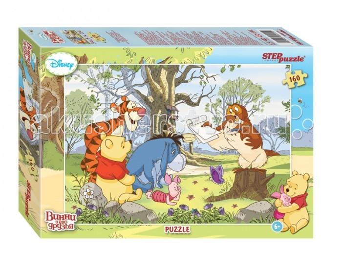 Пазлы Step Puzzle Пазл Винни и его друзья 160 элементов step puzzle пазл для малышей томас и его друзья