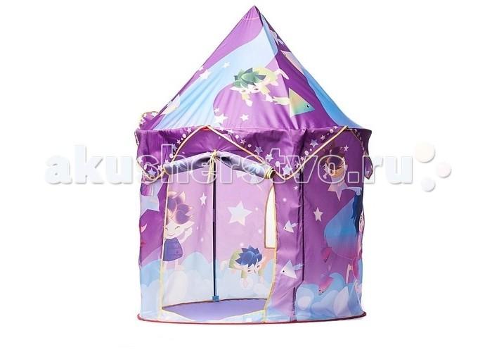 Yongjia Игровая палатка Волшебный домИгровая палатка Волшебный домFelice Игровая палатка Волшебный дом в сумке. Пожалуй, каждая юная леди хотя бы раз мечтала хоть на небольшой промежуток времени стать настоящей принцессой. С игровой палаткой это стало возможным! Небольшая и весьма уютная палатка, выполненная в виде настоящего сказочного замка, приведет в восторг любую маленькую модницу.   Яркие цвета и множество веселых изображений внутри и снаружи палатки создадут позитивное настроение вашему малышу. Кроме того, в этой волшебной палатке ребенок всегда будет под вашим присмотром. Благодаря легкой водонепроницаемой ткани, из которой сделана палатка, Вы сможете без труда менять ее месторасположение, создавая новую обстановку игрового процесса.  Особенности: 1 вход Экологический безопасный и чистый материал Водонепроницаемость  Размер: 80 х 80 х 100 см<br>