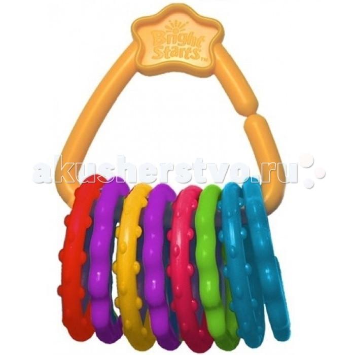 Прорезыватели Bright Starts Развивающая игрушка Веселые колечки прорезыватель bright starts динозаврик желтый 52029 2