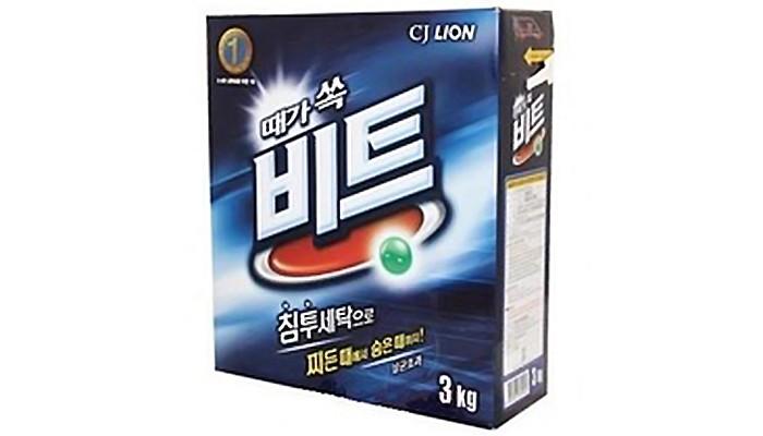 Бытовая химия CJ Lion Стиральный порошок Beat для ручной и автоматической стирки коробка 3 кг