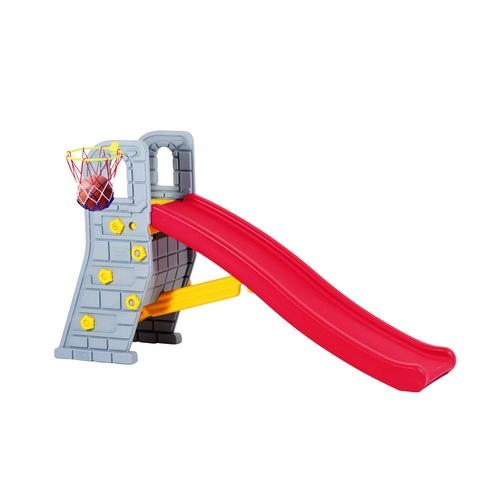 Горка Edu-Play Башня мини SL-6103Башня мини SL-6103Горка Edu-Play Башня Мини в комплекте с баскетбольной корзиной и мячом, предназначена для игр на улице и в помещении. Для детей в возрасте от 18 месяцев до 6-ти лет, максимальная нагрузка 30 кг. Дизайн горки разработан для постоянного движения, что способствует развитию координации и различных групп мышц ребенка.   Детская горка очень подойдет для дачи. Изготовлена из прочного экологически чистого пластика, безопасного для людей, конструкция прочная и надежная, прослужит долгие годы.<br>