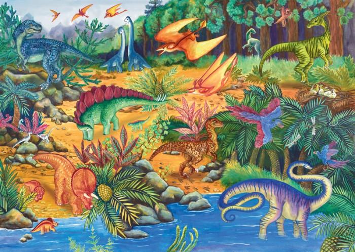 Пазлы Step Puzzle Пазл напольный Динозавры 34 элемента