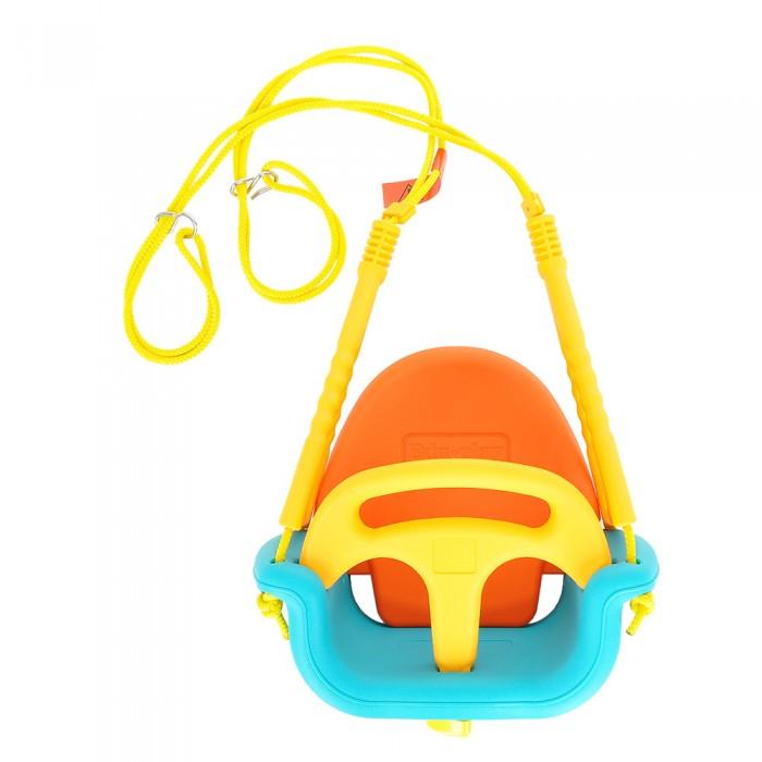 Качели Edu-Play МалышКачели<br>Качели Edu-Play Малыш предназначены для детей в возрасте от 6 месяцев до 6 лет.   Особенности: Современные качели выполнены в ярком и веселом стиле На бортике есть погремушка для малыша Качели трансформируются в зависимости от возраста ребенка, таким образом, они подходят на широкий возрастной диапазон Для безопасности малыша качели оборудованы специальным бортиком и спинкой для комфорта По мере роста ребенка, в 3х летнем возрасте с качелей можно снять бортик, а с пяти лет снять спинку Изготовлены из прочного экологически чистого пластика, безопасного для людей, конструкция прочная и надежная, прослужит долгие годы  Максимальная нагрузка: 30 кг. Регулируемая длина канатов: до 160 см. Диаметр канатов: 1 см. Размер качелей: 80,5х54х50 см. Размер упаковки: 39х26х49 см. Вес: 4,41 кг.