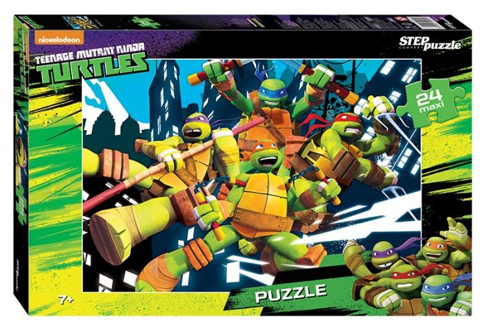Пазлы Step Puzzle Пазл Черепашки Ниндзя 24 элемента пазлы step puzzle пазл лунтик 24 элемента