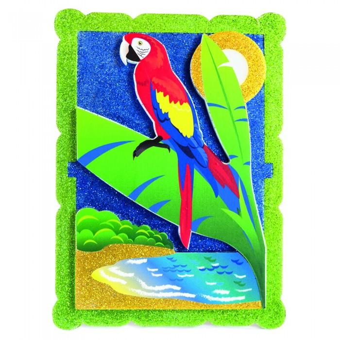 Наборы для творчества Pic`n Mix Аппликация Попугай в тропиках  наборы для творчества pic n mix аппликация новогодняя елочка