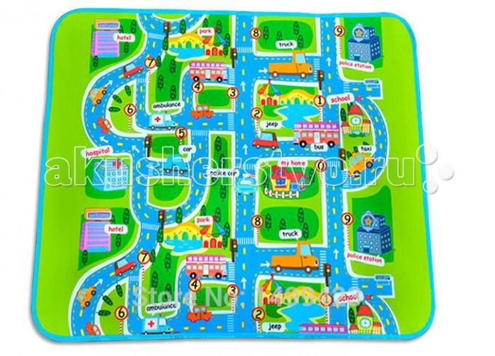 Игровой коврик Mambobaby ГородГородРазвивающий коврик Mambobaby Город для детей от 1 года. Это идеальная площадка для ползания, игр и развития Вашего малыша.  Особенности: Изготовлен из безопасных материалов, не выделяющих токсинов и не имеющих запаха Непромокаемый, теплоизолирующий, бесшовный, больших размеров, с богатой палитрой цветов, с яркими и милыми картинками из мультфильмов, стимулирующий развитие детского зрения и интеллекта, суперлегкий, сворачивающийся, удобный в переноске, безопасный и комфортный  Способы применения: для ползания, игр, защиты от влажности, использования в качестве подстилки на природе, на пикнике, на рыбалке и т.д.<br>